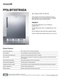 Spec Sheet   FF6LBI7SSTBADA