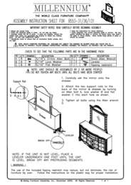 Dresser and Mirror Assembly Instructions
