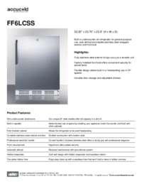 Spec Sheet   FF6LCSS