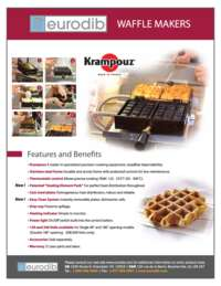 Waffle Maker Spec Sheet English