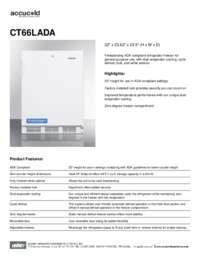 Spec Sheet   CT66LADA