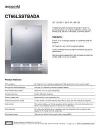 Spec Sheet   CT66LSSTBADA