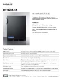 Spec Sheet   CT66BADA