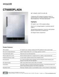 Spec Sheet   CT66BDPLADA