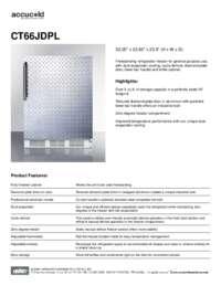 Spec Sheet   CT66JDPL