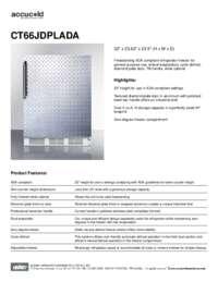Spec Sheet   CT66JDPLADA