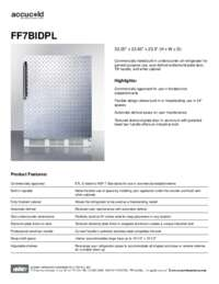 Spec Sheet   FF7BIDPL