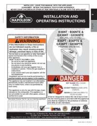 B36NT and B36NTE Product Manual