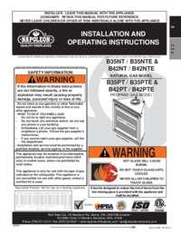 B35NT and B35NTE Product Manual