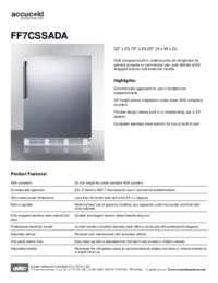 Spec Sheet   FF7CSSADA