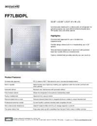 Spec Sheet   FF7LBIDPL