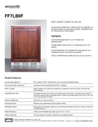 Spec Sheet   FF7LBIIF