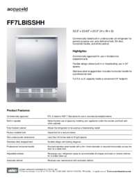 Spec Sheet   FF7LBISSHH