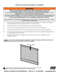 How To Clean Your Safety Screen