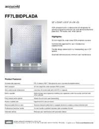Spec  Sheet   FF7LBIDPLADA