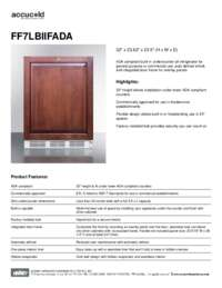 Spec Sheet   FF7LBIIFADA