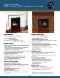 Specifications Sheet 36 Model