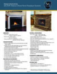 Specifications Sheet 42 Model