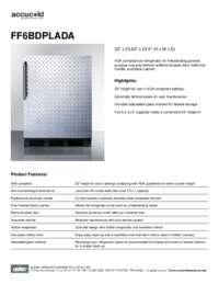 Spec Sheet   FF6BDPLADA