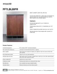Spec Sheet   FF7LBLBIFR