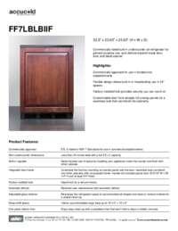 Spec Sheet   FF7LBLBIIF