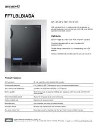 Spec Sheet   FF7LBLBIADA