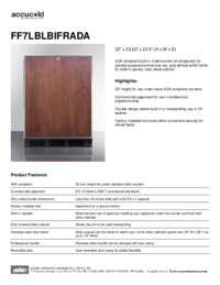 Spec Sheet   FF7LBLBIFRADA