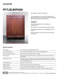 Spec Sheet   FF7LBLBIIFADA