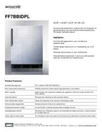 Spec Sheet   FF7BBIDPL