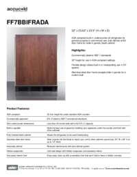 Spec Sheet   FF7BBIFRADA