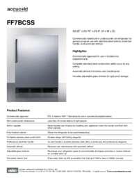 Spec Sheet   FF7BCSS
