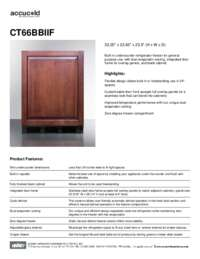Spec Sheet   CT66BBIIF