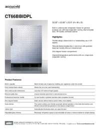 Spec Sheet   CT66BBIDPL