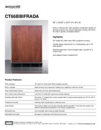 Spec Sheet   CT66BBIFRADA