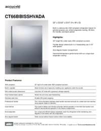 Spec Sheet   CT66BBISSHVADA