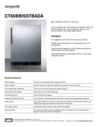 Spec Sheet   CT66BBISSTBADA