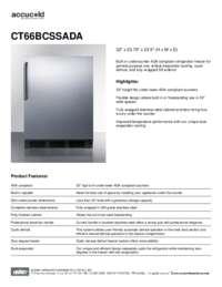Spec Sheet   CT66BCSSADA