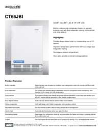 Spec Sheet   CT66JBI
