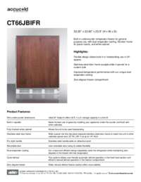 Spec Sheet   CT66JBIFR