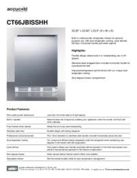 Spec Sheet   CT66JBISSHH