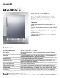 Spec Sheet   CT66JBISSTB