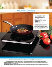 Induction Cookers Brochure