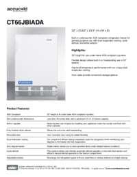 Spec Sheet   CT66JBIADA