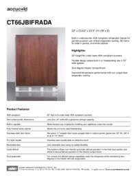 Spec Sheet   CT66JBIFRADA