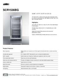 Spec Sheet   SCR1536BG