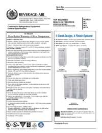 H glass freezers specs