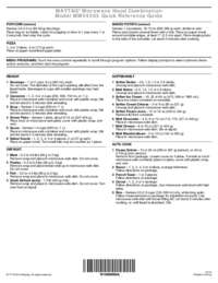 Quick Reference Sheet