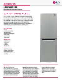 Lg Lbn10551ps 24 Inch Bottom Freezer Refrigerator With 10