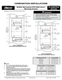 Combined Configuration DCM Microwave_DTO Wall Oven_Warming Drawer [199 KB]