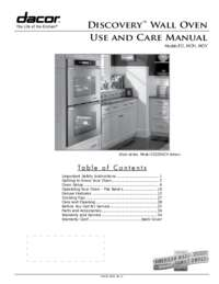 Use & Care Manuals